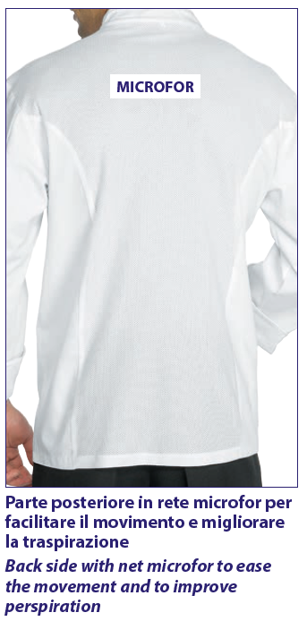 2fbcb8e44718 Μπλούζα Σακάκι Μαγειρικής Σεφ Ανδρικό Λευκό Μακρυμάνικο 100% Βαμβάκι ...
